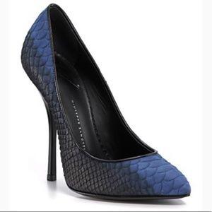 Giuseppe Zanotti Ombre Python Pumps Black & Blue